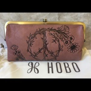 NWT Hobo Lauren Wallet Clutch Burnished Rose Pink